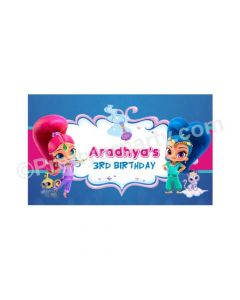 Shimmer and Shine Theme Backdrop