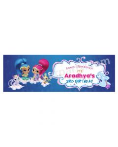 Personalized Shimmer and Shine Theme Banner 30in