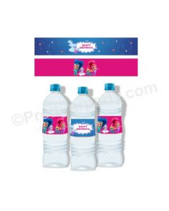Shimmer and Shine Theme Water Bottle Labels