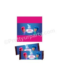 Shimmer and Shine Theme Chocolate Wrappers