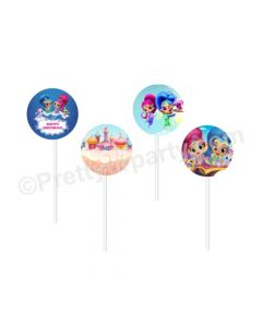 Shimmer and Shine Theme Cupcake / Food Toppers
