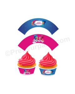 Shimmer and Shine Theme Cupcake Wrappers