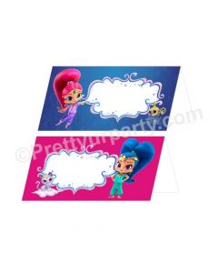Shimmer and Shine Theme Food Labels / Buffet Table Cards