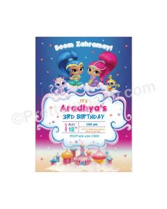 Shimmer and Shine Theme Invitations