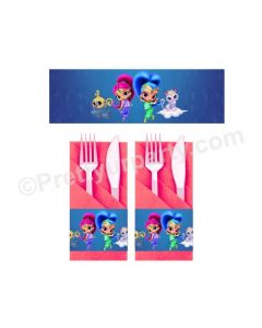 Shimmer and Shine Theme Napkin Rings
