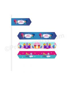 Shimmer and Shine Theme Drink Straws