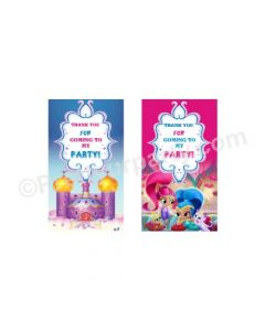 Shimmer and Shine Theme Thank you Tags
