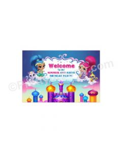 Shimmer and Shine Theme Entrance Banner / Door Sign