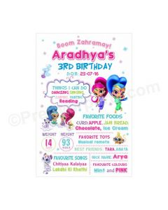 Shimmer and Shine Theme Chalkboard Poster