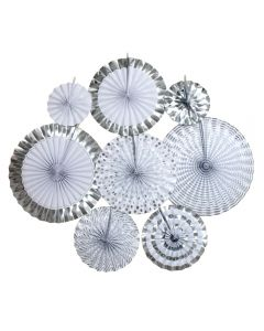 Silver Foil and Paper Fans
