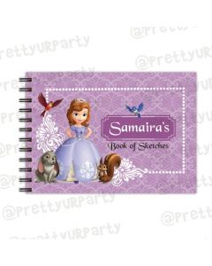 Sofia the 1st  themed Personalised Sketchbook