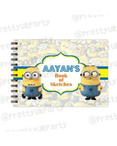Despicable Me Minions themed Personalised Sketchbook