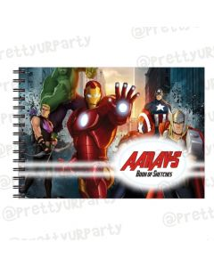 Avengers Inspired themed Personalised Sketchbook