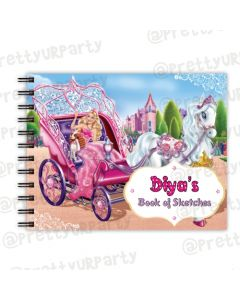 Barbie Rockstar themed Personalised Sketchbook