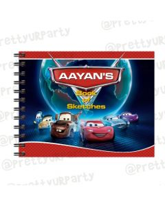Disney Cars Inspired themed Personalised Sketchbook
