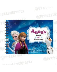 Frozen Inspired Personalised Sketchbook
