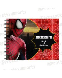 Spiderman themed Personalised Sketchbook