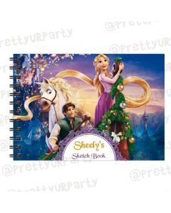 Tangled / Rapunzel Personalised Sketchbook