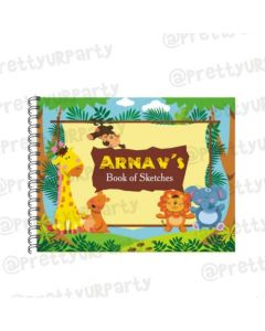 Jungle theme Personalised Sketchbook