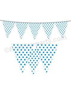 Blue Small Polka Dots Bunting