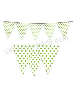 Green Small Polka Dots Bunting