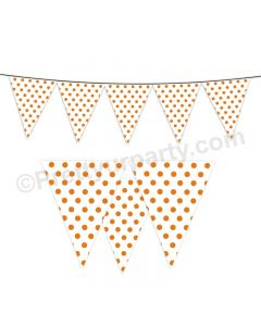 Orange Small Polka Dots Bunting