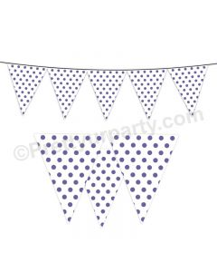 Purple Small Polka Dots Bunting