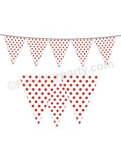 Red Small Polka Dots Bunting