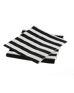 Black striped paper napkins