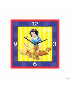 Personalized Snow White Clock - Square