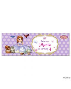 Personalized Sofia the first Enchanted Garden Party Birthday Banner 36in
