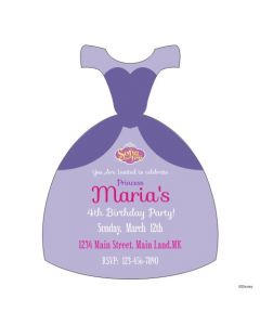 Sofia the First Dress Invitations