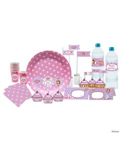 Disney Sofia the first Enchanted Garden Party Tableware Package
