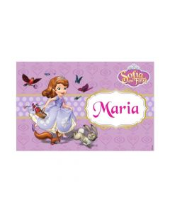 Sofia the first Enchanted Garden Party personalized Placemats