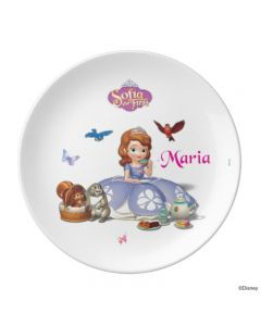 Disney Sofia the first Enchanted Garden Party Personalised Plate