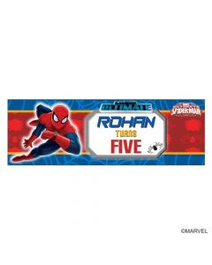 Personalized Spiderman Birthday Banner 36in