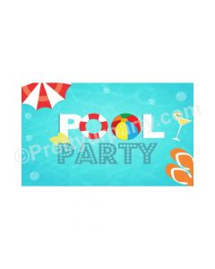 Splash Pool Party Theme Backdrop