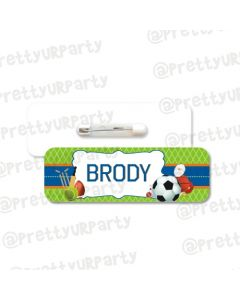 Sports Theme Badge / Name Tag