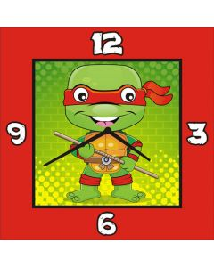 Ninja Turtles Square Clock