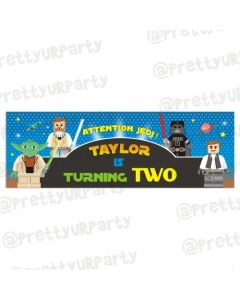 Personalized Star Wars Birthday Banner 36in