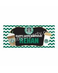 Personalized Cappuccino Theme Banner 30in