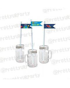 Space Theme Drink Straws