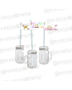 Unicorn Theme Drink Straws