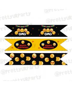 Emoji Theme Drink Straws