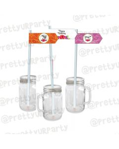 70th Birthday Theme Drink Straws