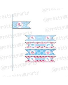 Shabby Chic Drink Straws