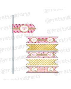 Tea Party Drink Straws