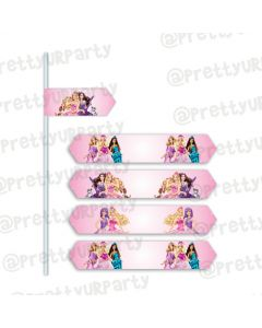 Barbie Rockstar Drink Straws