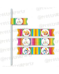 Art & Craft Party Drink Straws