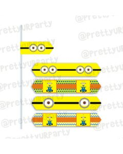 Despicable Me Minions drink straws